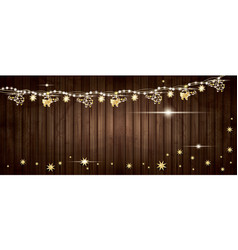 golden garland with helicopters and stars on vector image