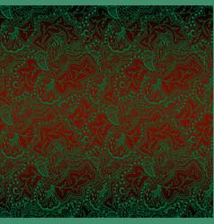 green pattern on dark red vector image