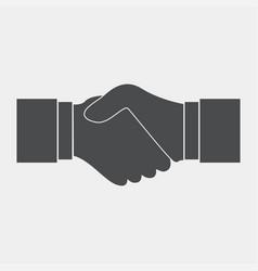 Handshake flat black vector