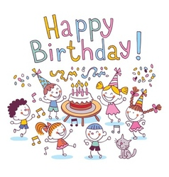 Happy Birthday kids vector