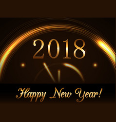 Happy new year background gold 2018 vector