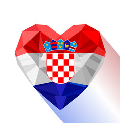 Heart the flag of the republic of croatia vector