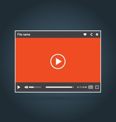 Interface of video player with icons vector image