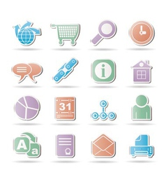 internet and navigation icons vector image
