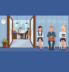 job interview and recruiting vector image
