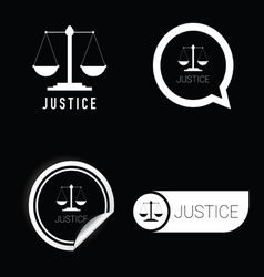 Justice icon black and white vector