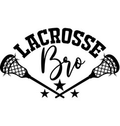 Lacrosse brother on white background vector