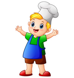 little boy chef cartoon vector image
