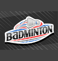 Logo for badminton sport vector