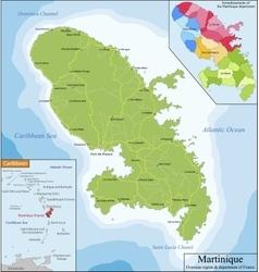 map martinique vector image