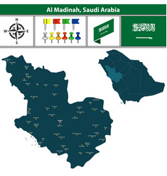 map of al madinah saudi arabia vector image