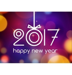 New Year 2017 festive card template New year vector