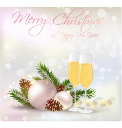 new year card champagne vector image