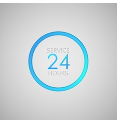Open 24 hours a day icon service sign vector