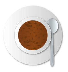 oxtail soup vector image
