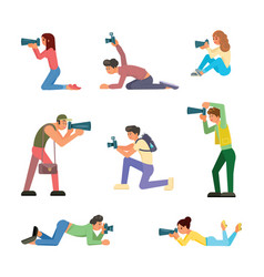 paparazzi icon set isolated vector image