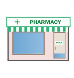 pharmacy shop icon on white background flat vector image