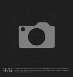photo camera icon - black creative background vector image