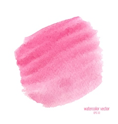 Pink watercolor circle vector