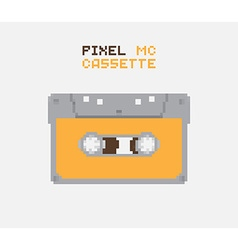 Pixel mc cassette vector