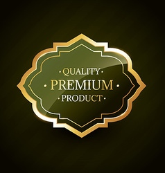 premium product golden quality label badge design vector image