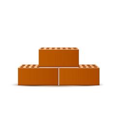 realistic bricks in heap 3d blocks bunch vector image