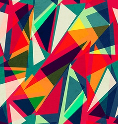 retro triangle seamless texture vector image