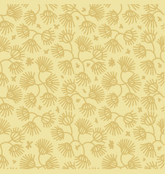 seamless botanical pattern with simple vector image