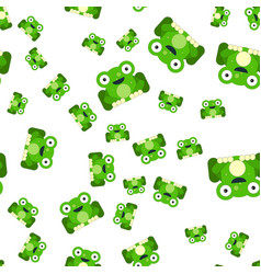 seamless pattern of frogs vector image