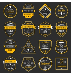Set Surf Badges Sign and Logos vector image