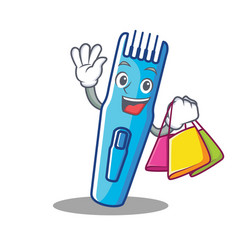 Shopping trimmer character cartoon style vector