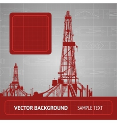 Sketch of oil rig vector