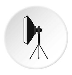 Spotlight icon circle vector