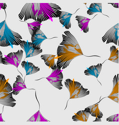 stylish abstract floral background seamless vector image
