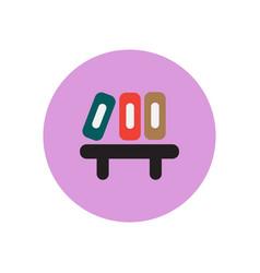 Stylish icon in circle office folders on shelf vector