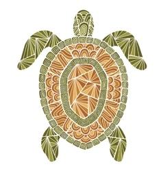 stylized turtle style entangle vector image