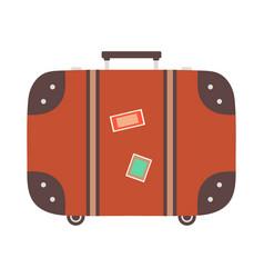 suitcase isolated on white background flat style vector image