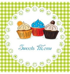 Sweets menu vector
