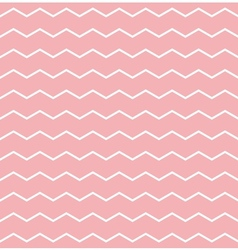 Tile pattern white zig zag on pink background vector