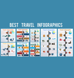 tourism and travel concept infographic set vector image