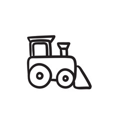 Toy train sketch icon vector