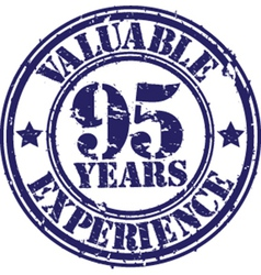 Valuable 95 years of experience rubber stamp vect vector image