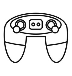 video game controller icon outline style vector image