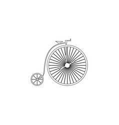 Vintage bicycle flat icon vector