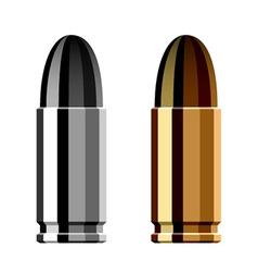 weapon gun bullet cartridge vector image