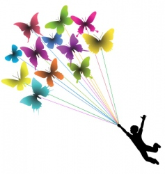 butterfly boy vector image vector image