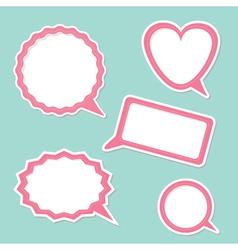 Speech bubble set Design elements vector image