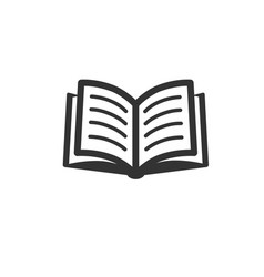 book icon isolated on white vector image vector image
