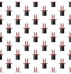 Hat with rabbit pattern vector image
