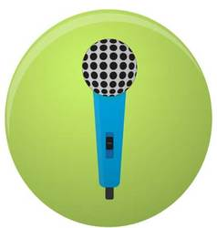 Microphone icon colored isolated vector image